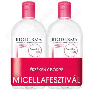 Sensibio H2O arc- és sminklemosó DUOPACK 2x500 ml - Micellafesztivál