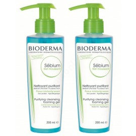 Bioderma Sébium Moussant habzó gél Duo Pack 2x200ml